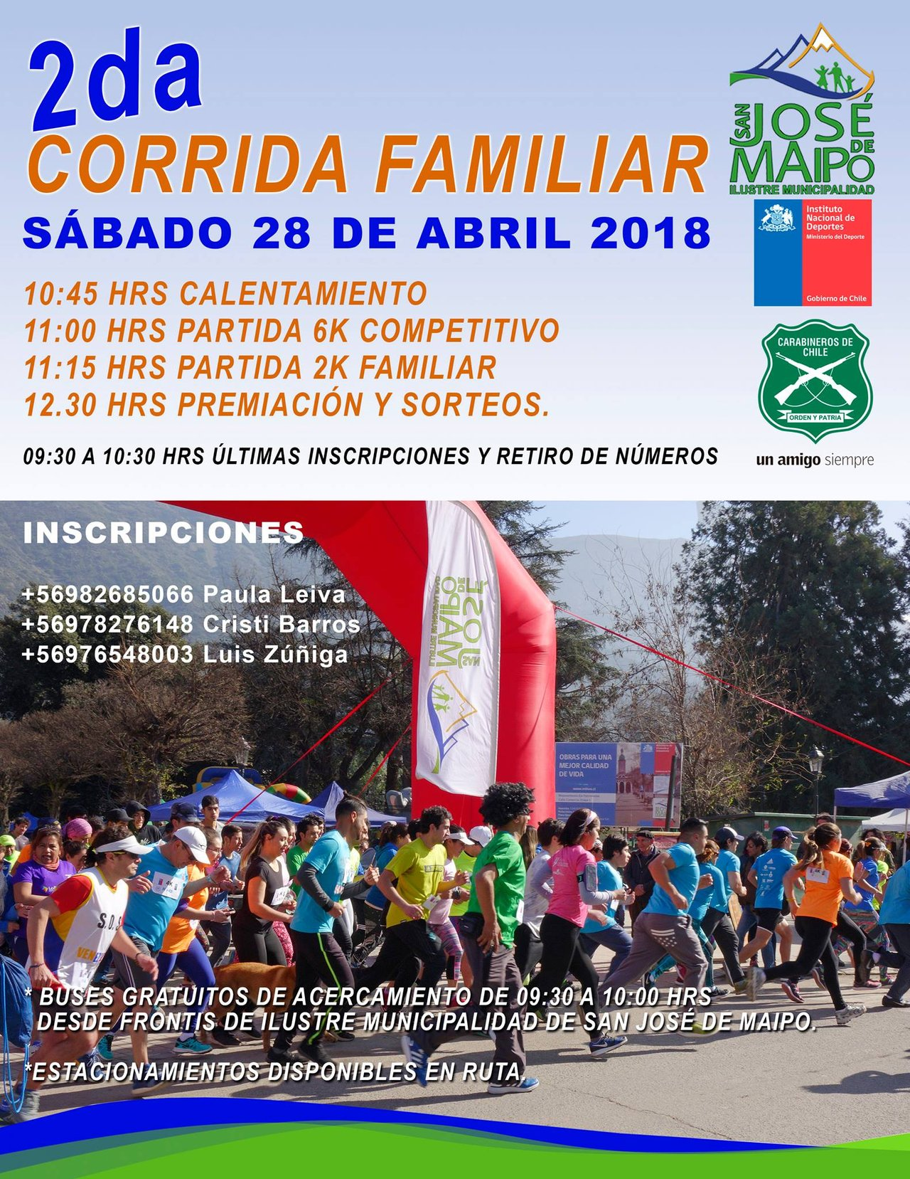 Segunda Corrida Familiar y Competitiva