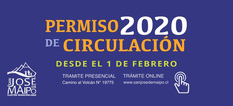 Valor permiso de circulacion 2020