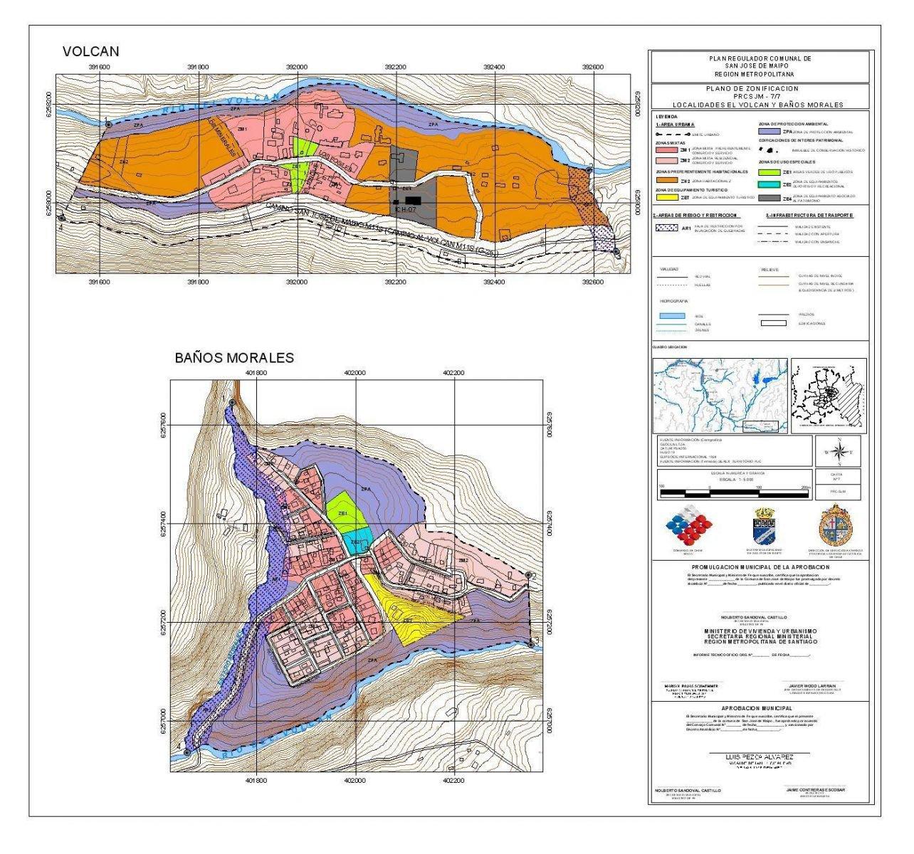 zon_pl7_LPA: Localidades de El Volcán y Baños Morales